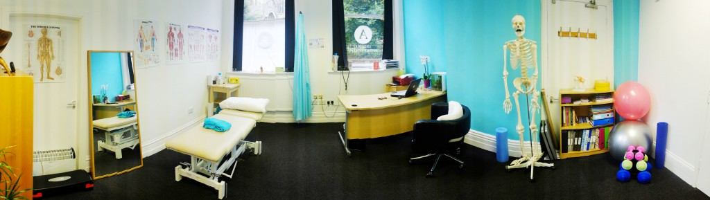 Inside the clinic here at Arcadia Physiotherapy Nottingham, United Kingdom